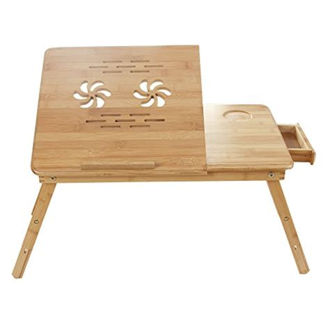 songmics bamboo laptop desk songmics 100 bamboo portable laptop desk table foldable
