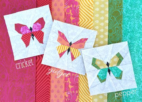 free printable paper piecing quilt blocks butterflies with names book covers