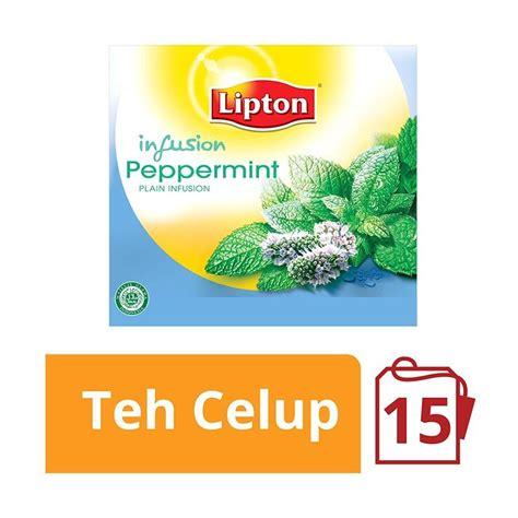 Teh Lipton Isi 100 jual lipton peppermint 15 kantong x 1 5 gr 20236583 harga kualitas terjamin