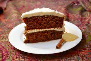 lebkuchen kuchen oh cake gingerbread layer cake with cheese frosting
