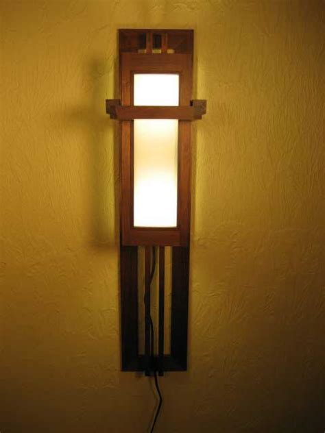 Frank Lloyd Wright Sconce frank lloyd wright wall sconce woodworking plans how to