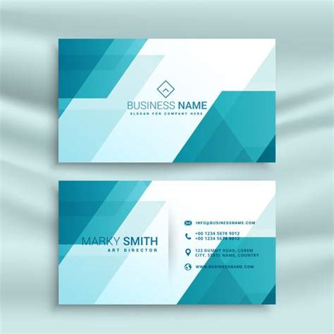 Pale Blue Business Card Template Free by Modern Blue And White Business Card Design Template