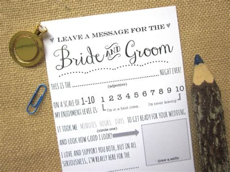 Wedding Advice Guest Book by Diy Printable Wedding Advice Card For The And Groom