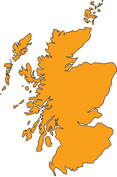 Scottish Outline by Scotland Map With Cities Blank Outline Map Of Scotland
