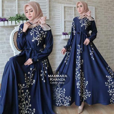Produk Maiza Syari Navy Mocca Ak Gamis Wanita Misbie Navy Mocca gamis terbaru khanza maxi maxmara baju muslim modern