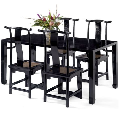 Black Dining Table Uk Black Lacquer Dining Table Table Dining