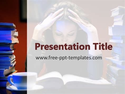 stress on students ppt template
