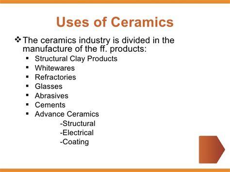 10 Uses Of Ceramics by Ceramics