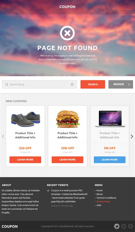 themeforest discount code coupon coupons and promo codes psd template by