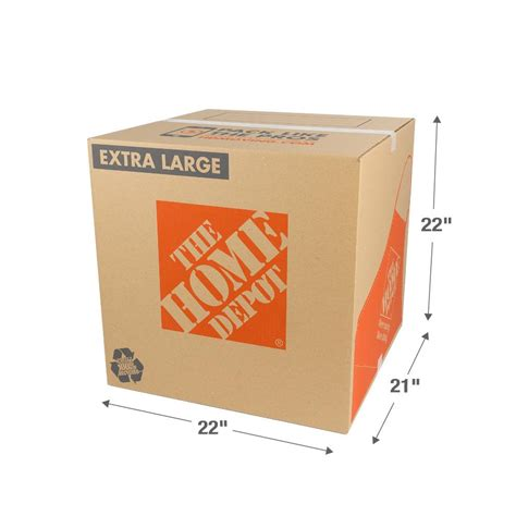 home depot pro extra the home depot 22 in l x 21 in w x 22 in d extra large