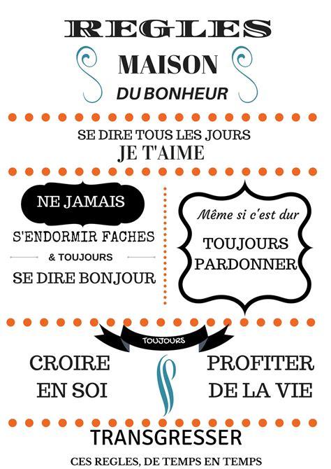 Regle De La Maison A Imprimer by R 232 Gles De La Maison Affiche Les Micmacs De Malova