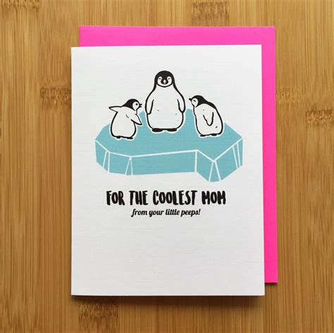 cute mothers day cards penguin mothers day card cute penguin card penguin gift