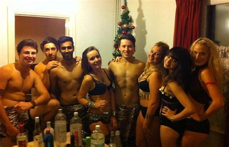 hot uc themes exeter university safer sex ball students strip to their
