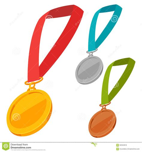 Set Ribon award ribbon set vector illustration cartoondealer