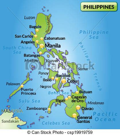 Philippines Search Free Clipart Vector Of Map Of Philippines As An Overview Map In