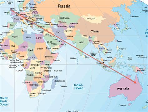 map uk to australia scotland to australia student