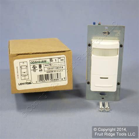 occupancy sensor light switch adjustment new leviton white 1 pole occupancy motion sensor light