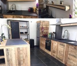 cuisine dext 233 rieur en palette palzon