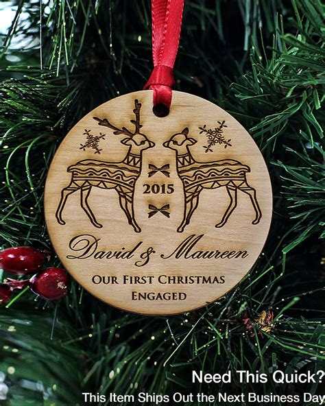 engagement gifts for couple christmas ornaments handmade