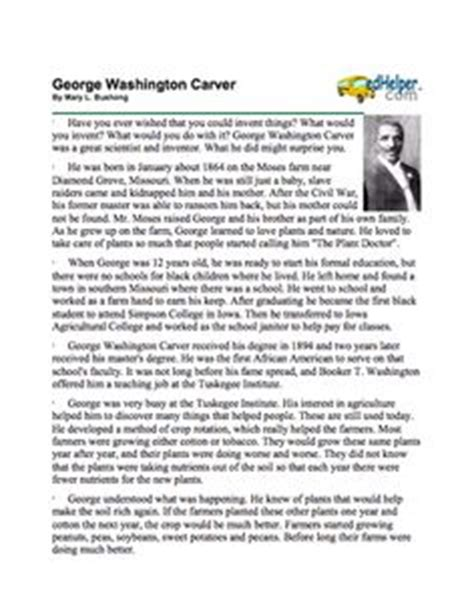 George Washington Carver Essay by George Washington Carver On George Washington Writing Papers And Coloring Books
