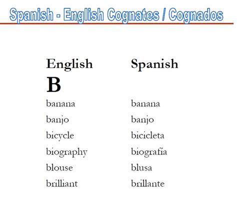 spanish english classes 10 best cognates spanish english images on pinterest