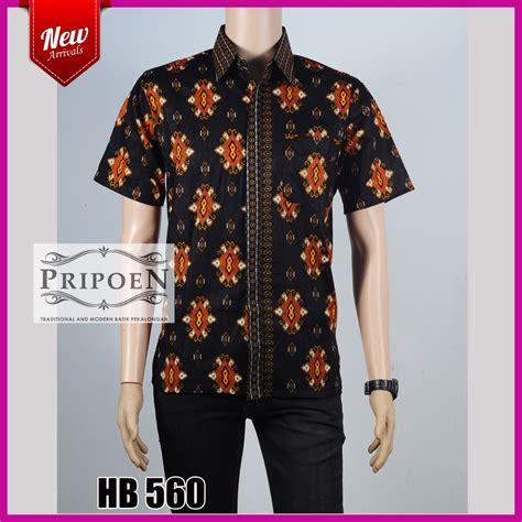 Kemeja Batik Songket Katun kemeja batik songket baju batik pria hb 560 pripoen