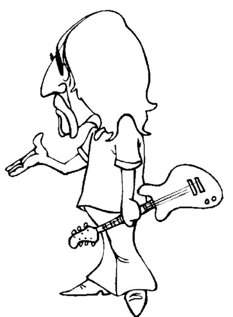 guitar player coloring page guitar player coloring pages cool rocker guitar player