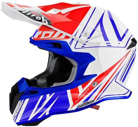 airoh motocross airoh terminator 2 1 cut motocross helmet white blue