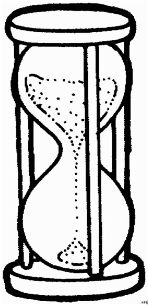 Sanduhr Rieselt Ausmalbild & Malvorlage (Gemischt)