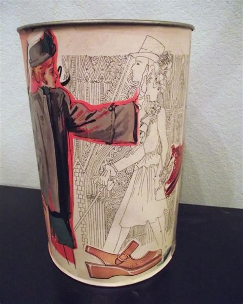 decoupage trash can 1000 images about vintage metal trash cans on