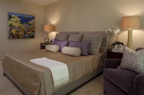 taupe and purple bedroom city serenity contemporary bedroom san francisco