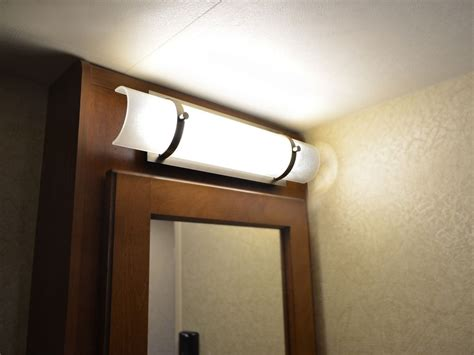bathroom lighting above medicine cabinet lance 2185 travel trailer got a family how about