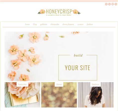 cute blog layout design honeycrisp a clean modern pretty wordpress theme