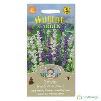 Benih Bunga Mr Fothergills Import Cornflower Blue benih salvia blue and white mixed 250 biji mr