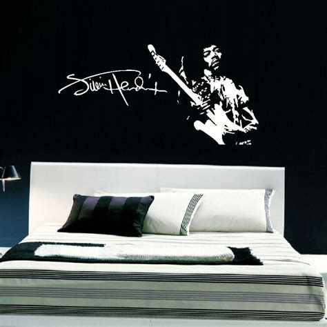 large bedroom wall stickers jimi hendrix large bedroom wall mural art sticker stencil