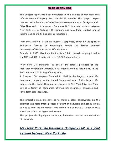 Lic Project Report For Mba by A Project Report On Joint Venture