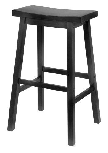 Saddle Bar Stools For Sale by Winsome Wood 29 Inch Saddle Seat Bar Stool Black Home Bars For Sale