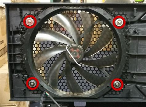 antec 900 fan replacement how to remove replace the quot big boy quot 200mm top fan on an