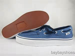 Vans Zapato Blue vans zapato barco captains blue navy mens all sizes