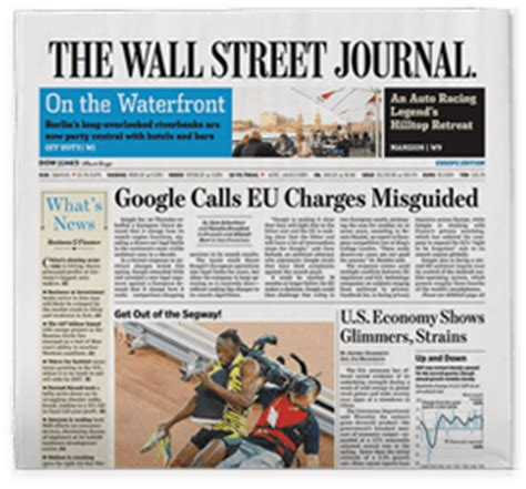 wsj mobile site the wall journal