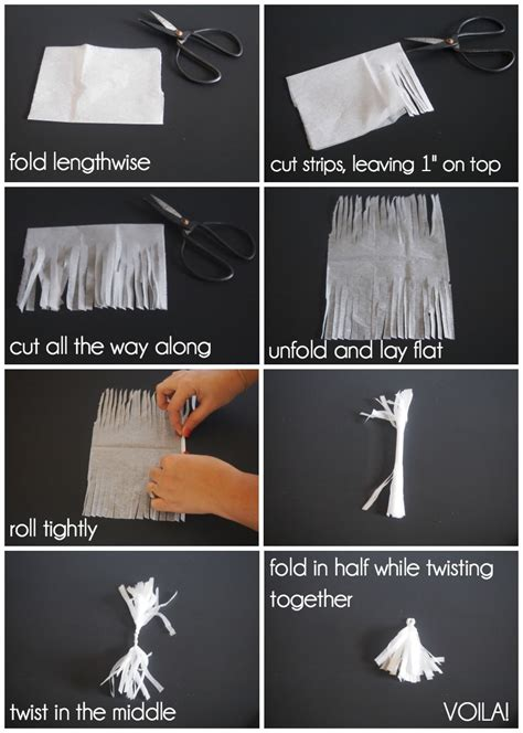 How To Make Tissue Paper Tassels - make a tassel garland out of leftover paper