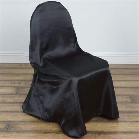 Black Universal Chair Covers by Black Universal Satin Chair Covers Efavormart
