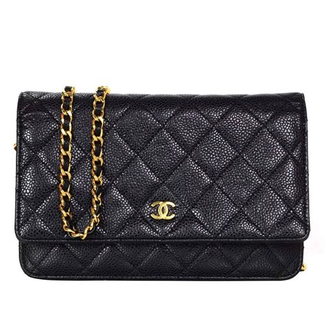Clutch Chanel Woc Zip Caviar Hitam Ac33819 1 chanel black caviar leather woc wallet on chain crossbody bag ghw for sale at 1stdibs