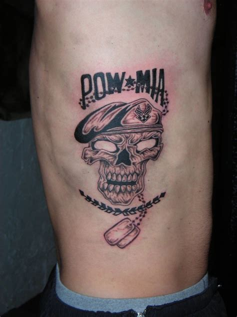 pow mia tattoos pow with skull by lucidpetroglyphs666 on deviantart