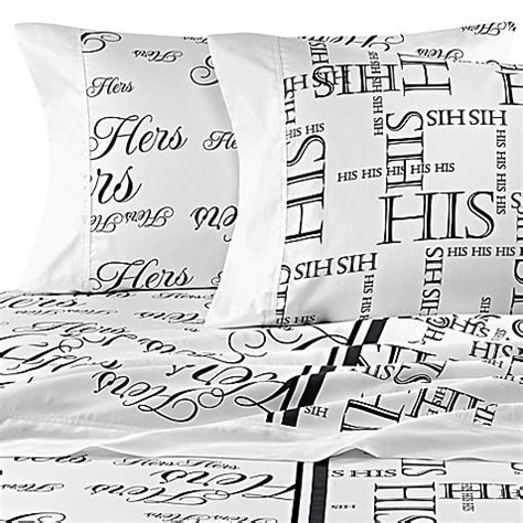 hers bed bath and beyond bed hog his and hers sheet set in black grey bed bath