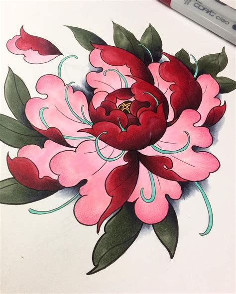 asian flower tattoo designs best 25 japanese peony ideas on