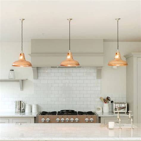 Kitchen Lighting Pendants Coolicon Industrial Pendant Light Polished Ls Copper Pendant Ls And