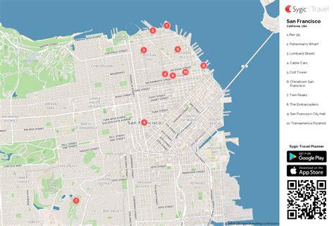 san francisco map attractions printable san francisco printable tourist map sygic travel