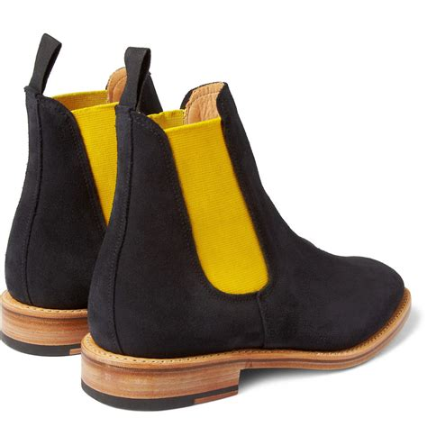 mcnairy new amsterdam suede chelsea boots in blue for