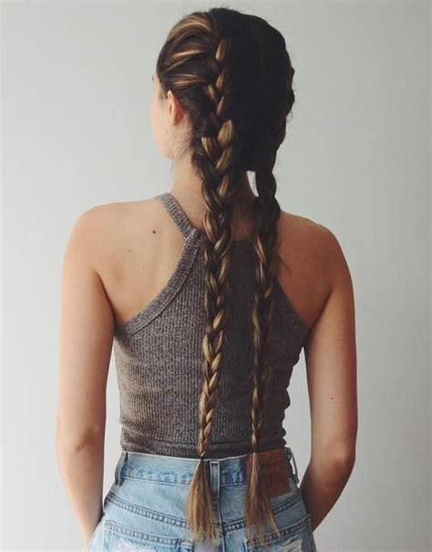 2 braids in front hair down hairstyle long natural hair 40 two french braid hairstyles for your perfect looks